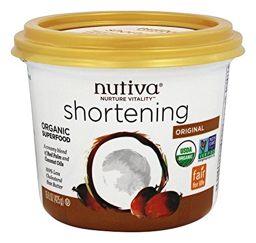 Nutiva Organic Coconut and Red Palm Oil Blend Shortening, 15 Ounce -- 6 per case.