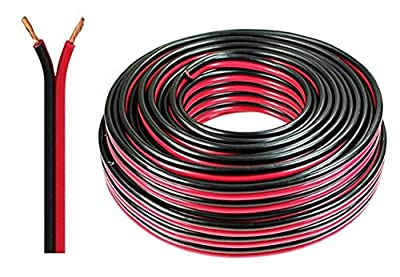 Auline® 20 AWG Speaker Cable Wire Figure 8 Stranded 10m 20m 30m 50m 100m (10 Meters, Red & Black)