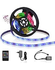 Aigostar LED Strip 3M, Muziek RGB LED Strip met Afstandsbediening, Muzieksynchronisatie, IP65 Waterdichte, LED Strip Light voor Thuis, TV, Slaapkamer, Keuken, Party, Veranda, Feest, Bar