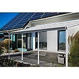 Home Deluxe - Terrassenüberdachung weiß - Maße: 618 x 303 x 226/278 cm - Inkl. komplettem Zubehör   Wintergartendach Verandaüberdachung Vordach