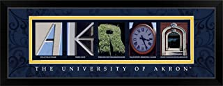 CANVAS ON DEMAND Akron - University of Akron Campus Letters Black Framed Art Print, 39