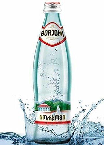 Mineral wasser BORJOMI Glitzernd Wasser im glas flasche, 0,5 l [Packung von 12]