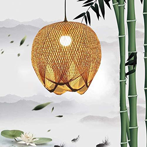 Lámpara colgante de mimbre de bambú lámpara colgante tejida a mano lámpara colgante E27 ajustable en altura sala de estar lámpara colgante bambou lámpara colgante de bambú retro