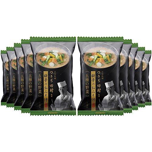 マルコメ フリーズドライ つきぢ田村 五種の野菜 即席味噌汁 1食×10個