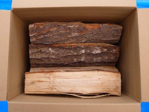 ナラ薪【岩手県産】 安全高品質な乾燥薪 長さ40cm ダンボール箱入り1箱20kg