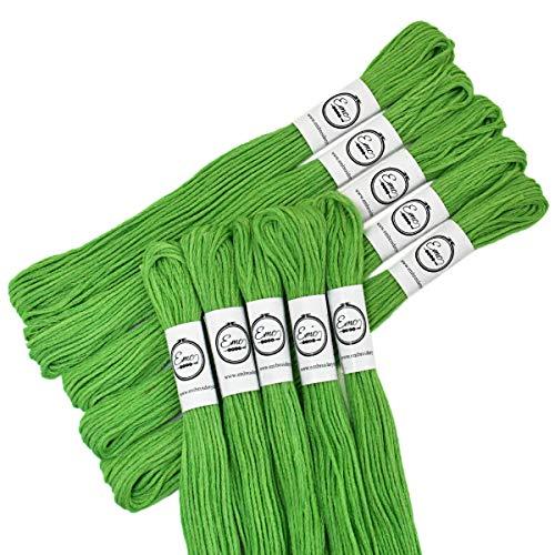 Embroiderymaterial Stickgarn zum Stricken und Basteln lichtgrün
