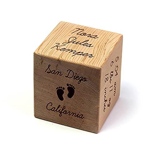5cm houten blokken voor babys, houten pasgeboren cadeau, baby naam blokken, souvenir voor pasgeboren, gepersonaliseerde geboortekaartje houten blok