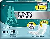 Lines Specialist Assorbenti per Incontinenza, Rettangolare, 22 Pezzi