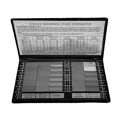 MH GLOBAL 30 Pc Specimen Surface Roughness Comparator Composite Pocket Set