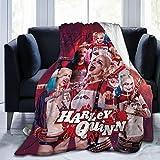 Dametul Flannel Fleece Throw Blanket for Winter Sofa Kindergarten, Ultra Soft Romantic Anime Girls Har-Ley Qui-nn Hero Moving Blanket, Warm Hypoallergenic 50x40 Inch