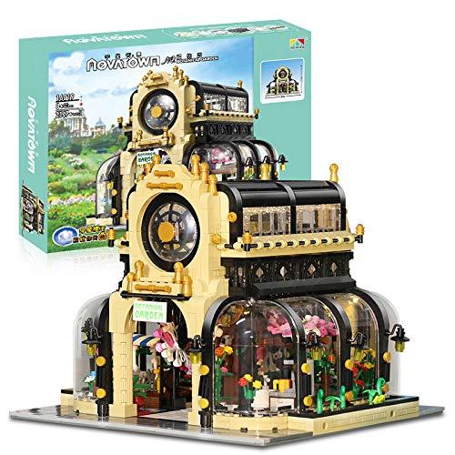 HYZM Conjunto de bloques de construcción de arquitectura, 2147 piezas, kit de modelo de arquitectura DIY para regalo de construcción para adultos y niños, jardín botánico de esquina con luz