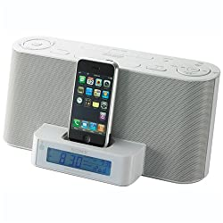 Sony ICFC1iPMK2 Speaker Dock and Clock Radio with iPod Dock (White)