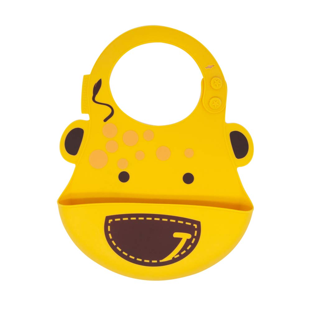 Silicone Baby Bibs for Infant & Toddler, Adjustable Size, Waterproof Bib, BPA & Phthalate Free, 6 Month+