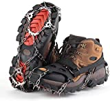GONFOWE Ice Snow Grips, Antislip Snow Grips Ice Traction Cleats Crampons for Footwear Shoes Cover with 19 Stainless Steel Spikes, Protect for Walking,Jogging,Climbing,Hiking Sports on Snow and Ice