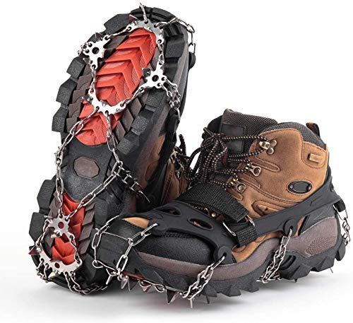 GONFOWE Ice Snow Grips, Antislip Snow Grips Ice Traction Cleats Crampons...