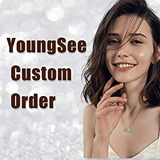 YoungSee Custom Order, Remy Human Hair Extensions, Topper Hair Piece Color #4/27/4, 13cm13cm mono base, 12inch