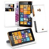 Cadorabo Hülle für Nokia Lumia 535 in ARKTIS WEIß -