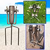 JINHAN Outdoor Lawn Umbrella Holder - Adjustable Angle Design Stainless Steel Umbrella Stand to Resist Strong Winds and Rust for Grass, Beach, Park, Patio and Lawn