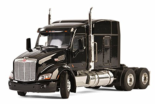 Peterbilt 579 6X4 3 Axle Truck, Black - WSI Models 33-2026 - 1/50 Scale Diecast Model Toy Car