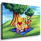 Winnie the Pooh Kinderzimmer Leinwand Bild - 100x70cm k.