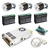 3 ejes Nema 23 Motor paso a paso doble eje 4.2 A Power Set Router Set 2,8 N/m Onda Única