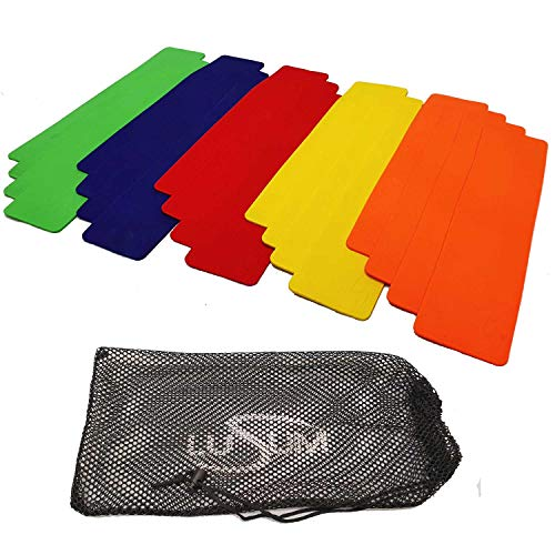 Lusum Rectangular Rubber Markers 20 Pack Pro Non Slip Rubber Sports Markers