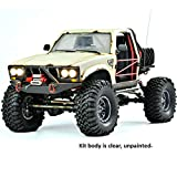 SR4A Demon 4x4 w Lexan Body: 1/10 Scale 4WD Scaler Rock Crawler Pickup Truck Kit (Requires Assembly and Paint)