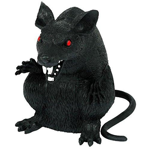 amscan 397435 Böse Ratte, 15 cm, Schwarz