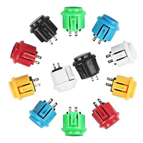 Arcade Tasten Schalter 24 * 33mm Druckknöpfe 24 Stück Perfekte Ersetzen für Arcade Kampfspiele Joystick Spiele Teile