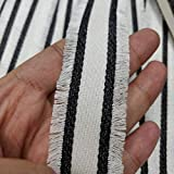 3 Yard Tassel Striped Woven Polyester Webbing,Webbing for Fashion Sewing Craft,Webbing for Key Fob Lawn Chair Webbing,Canvas Belt Material,Canvas Ribbon Belt,Backpack Webbing Straps