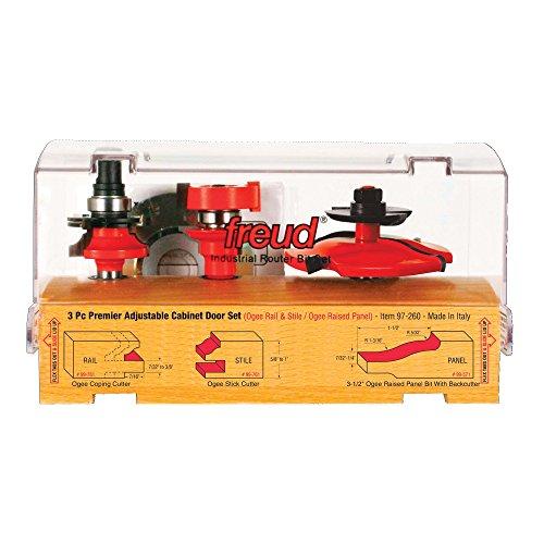 Freud 3 Piece Premier Adjustable Cabinet Bit Set (97-260)
