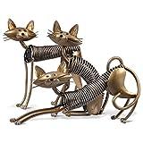 Tooarts Metall Katze Deko Skulptur Dekofigur zum Dekorieren - 2