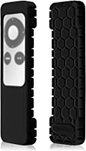 Fintie Protective Case for Apple TV 2 3 Remote Controller - Casebot (Honey Comb Series) Light Weight (Anti Slip) Shock Proof Silicone Sleeve Cover, Black