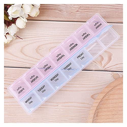 Bärbar medicinlåda 7 dagars veckovis tablett medicin låda hållare förvaring organisering behållare fodral för hem kontor material (färg: Som på bilden)