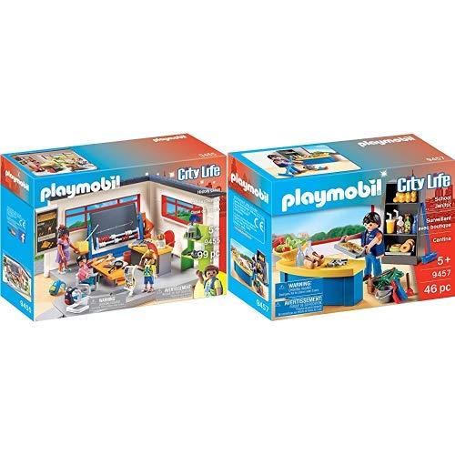 PLAYMOBIL 9455 Spielzeug-Klassenzimmer Geschichtsunterricht & 9457 Spielzeug-Hausmeister mit Kiosk