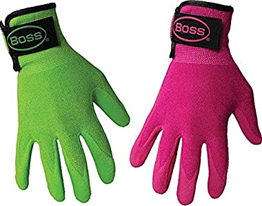 AAAmercantile 2 Pair Women's Garden Gloves Adjustable Knit Wrist for Comfort (X-Small)