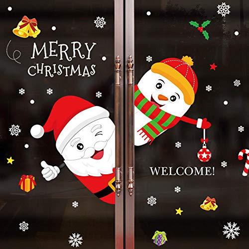 Cooldeerydm 2020 Kerstwandsticker, raamsticker, glas, festival, Kerstman, wanddecoratie, familietent, Nieuwjaar, kerstdecoratie