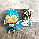 wwbfdc Anime Dragon Ball Pop Figuras Super Vegeta Powering Up # 713 Pop Vinilo Figura De Acción Jugu...