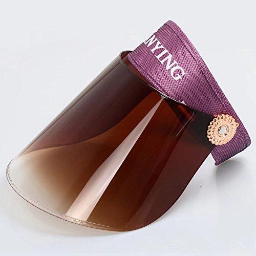 Chapeau de Soleil d'été, Protection UV, Vision Claire, réglable (Couleur: # 10)