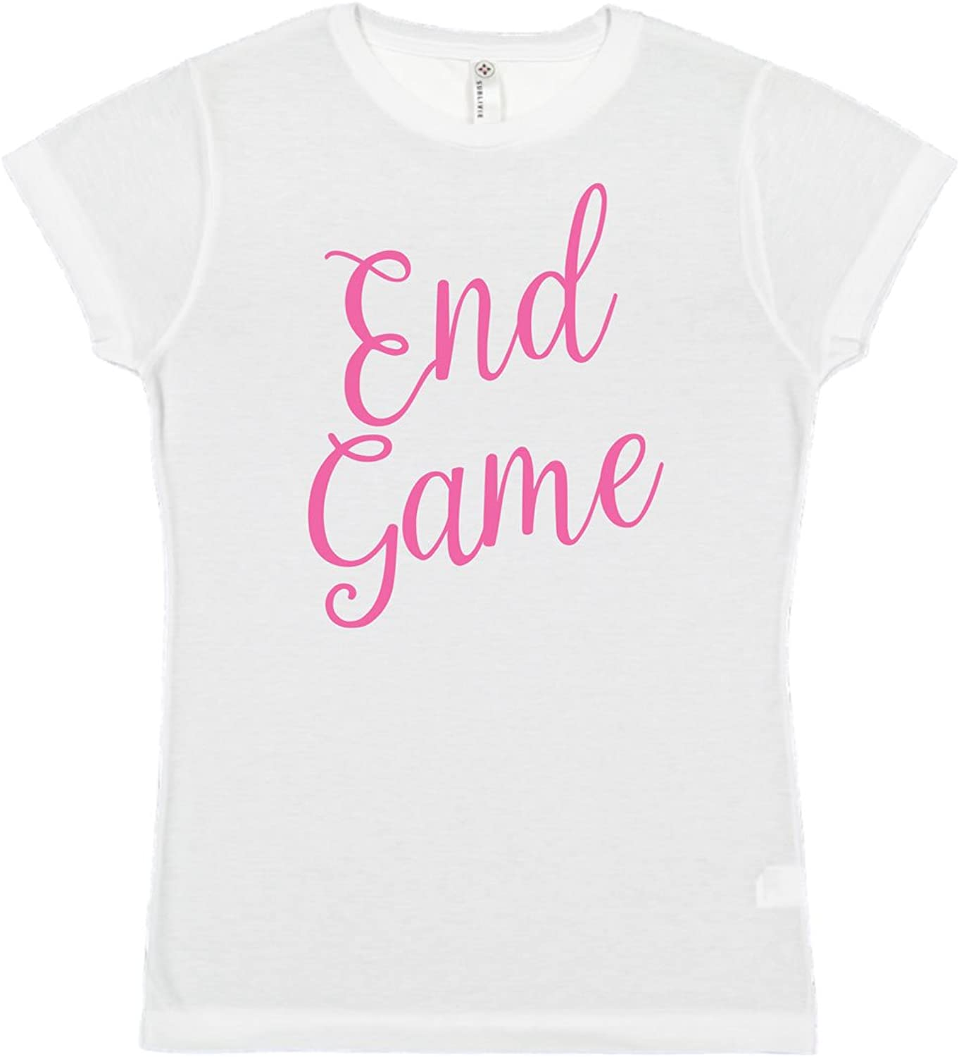 L A T End Game SubliVie Junior FIT 100% Polyester Crew Neck Short Sleeve Tee