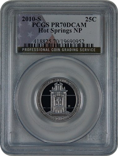 2010 S National Parks Hot Springs Quarter DCAM PCGS PR-70
