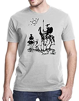Gbond Apparel Picasso Don Quixote T-Shirt Large Heather Gray