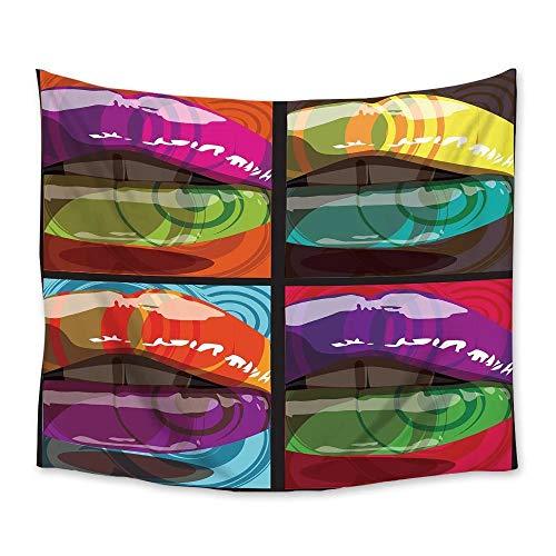 Colorido Sexy Labios Tapiz Tapices Colgantes de pared Colcha Arte de la pared Decoración Manta Toalla Cortina de ventana Estera de yoga 150x200cm