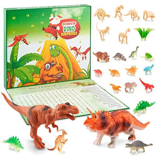 HAPIDS Juguetes de Dinosaurios Calendario Navideño de Adviento para niños 2020.