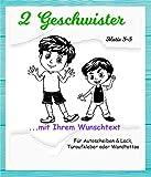NEU Aufkleber/Sticker *** 2 GESCHWISTER - Brüder mit Wunschtext*** (Motiv 3-5) Größen.- und Farbauswahl - für Auto, Kinderzimmer - Wände,Türen, Autoscheiben/Lack uvm