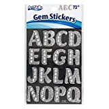 ArtSkills Silver Gem Letter Stickers, Project and Craft Accessories, 1.25 Inches, 6 Packs of 72 Pieces