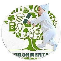クロールマットカーペットヨガエクササイズマット瞑想マットワークアウトマットベビーキッズ滑り止めラグプレイマットペットラウンドマットフレンドリーな地球の木