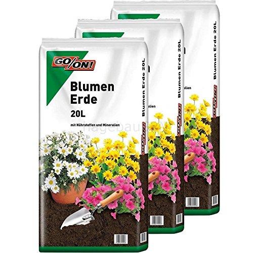 Go On 3 x 20l vorgedüngte Blumenerde 60 Liter