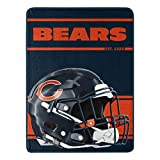 Northwest NFL Chicago Bears 46x60 Micro Raschel Run Design RolledBlanket, Team Colors, One Size (1NFL059050001RET)