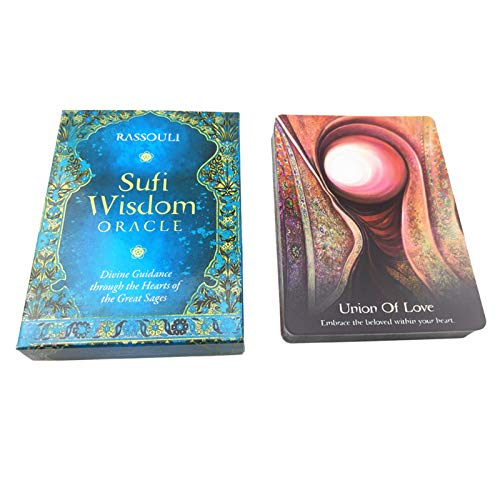 llio Sufi Wisdom Oracle Full English 44 Cards Deck Black Friday Sales 2020 Divination Fate Gioco da Tavolo